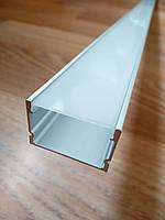Профиль алюминиевый ЛП20 20х30 анодированный (планка 2м) + рассеиватель, фото 1