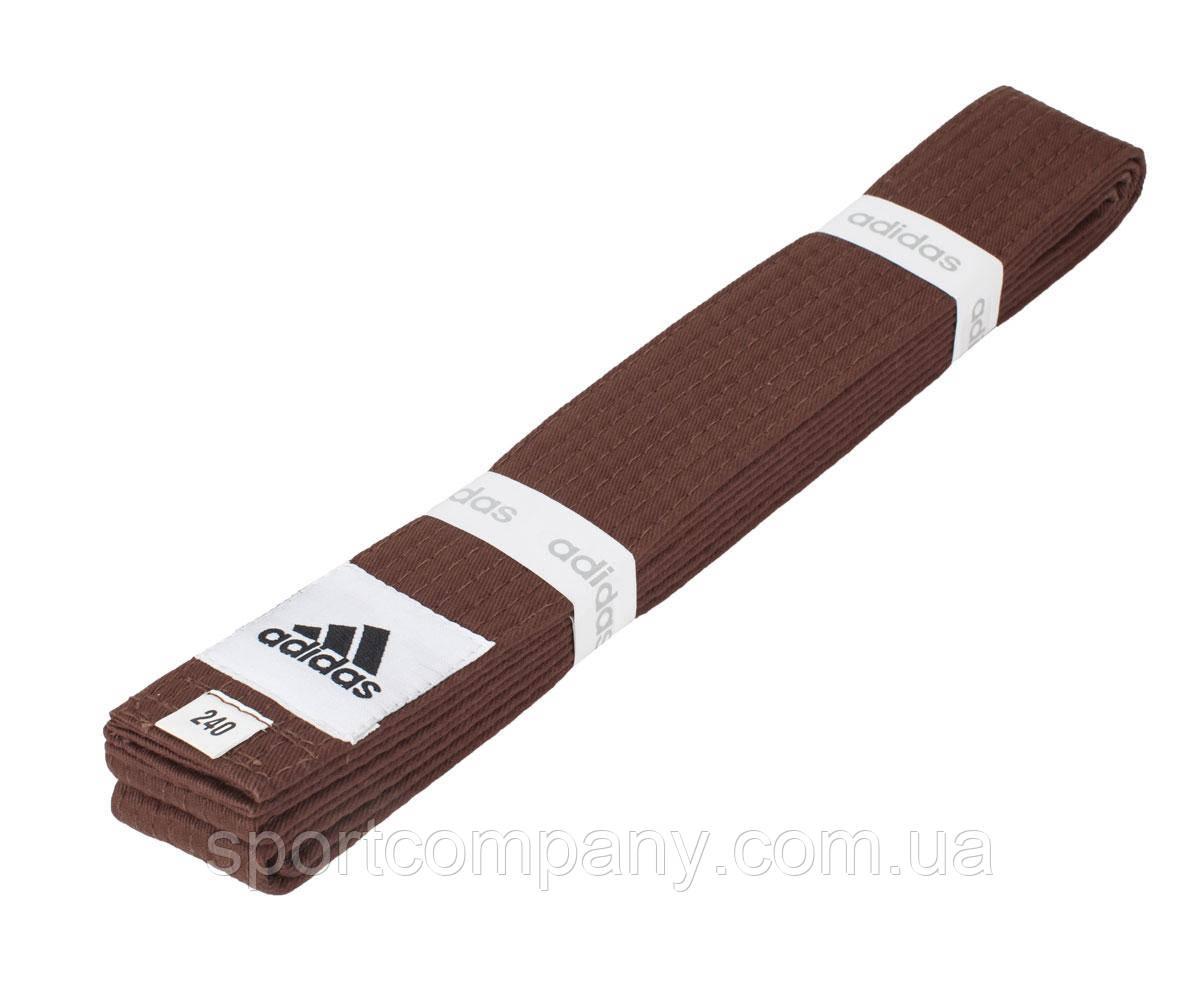Пояс для кимоно Adidas Club коричневый