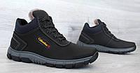 40 р. Чоловічі зимові спортивні черевики чорного кольору (Кла-171ч)