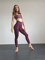 Спортивные леггинсы с высокой талией для фитнеса, зала, йоги леггинсы Vanderlike лосины Vine (XS, S, M, L)