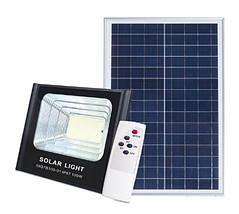 Светодиодный прожектор 100W на солнечной батарее с пультом. Фонарь солнечный 6500К, фото 2