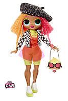 Игровой набор с куклой L.O.L. SURPRISE серии O.M.G. Neonlicious Fashion Doll  - кукла ЛОЛ Леди Неон