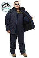 Зимний дышащий костюм, штаны полукомбинезон Diamond Сotton Синий, фото 1