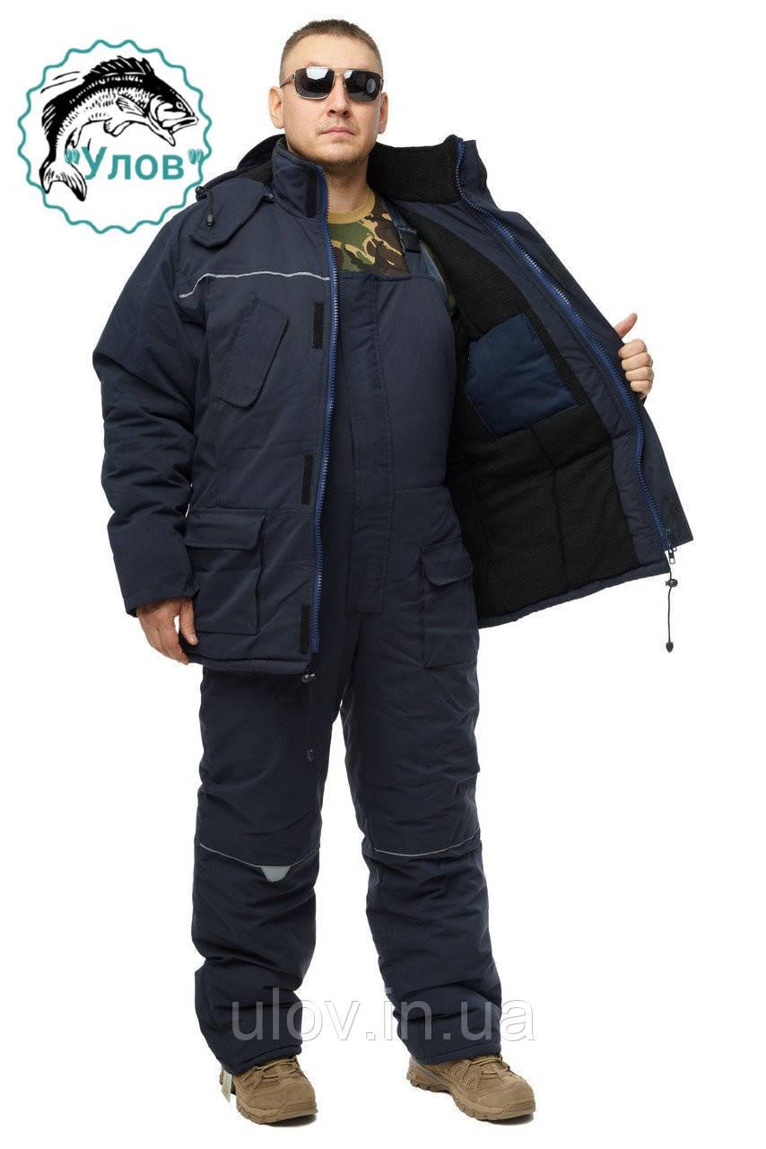 Зимний дышащий костюм, штаны полукомбинезон Diamond Сotton Синий