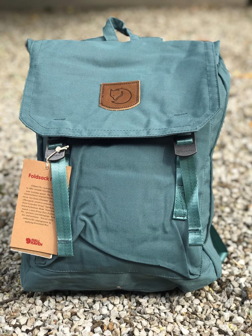 Рюкзак в стиле Fjallraven Foldsack No.1 Graphite Black