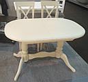 Стол Даниэль белый 120(+40)*80 обеденный раскладной деревянный овальный, фото 5