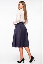 Стильная юбка с высокой посадкой и лентой по талии (разные цвета, 42-48, PF-8376), фото 3