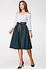 Стильная юбка с высокой посадкой и лентой по талии (разные цвета, 42-48, PF-8376), фото 2