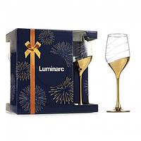 """Набор бокалов 270 мл для вина Celeste """"Зол кольцо"""" Люминарк 6 шт."""