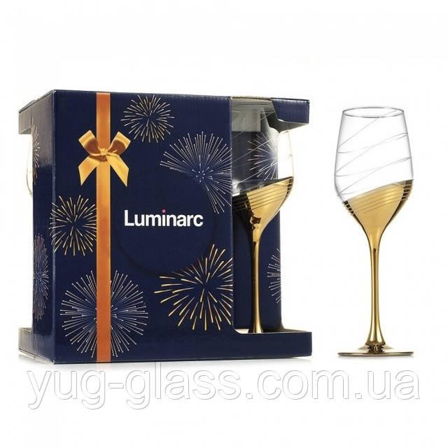 Набор бокалов для вина с золотом