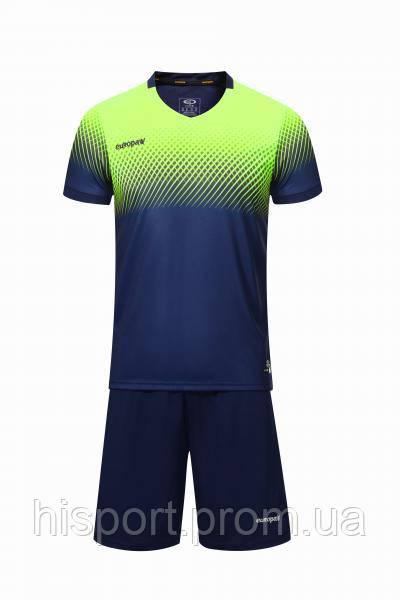 Игровая футбольная форма для команд т.сине-салатовая 024 Европав