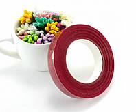 Лента флористическая, тейп-лента 30 метров, Цена за 1шт, Цвет - Вишнёвый, фото 1