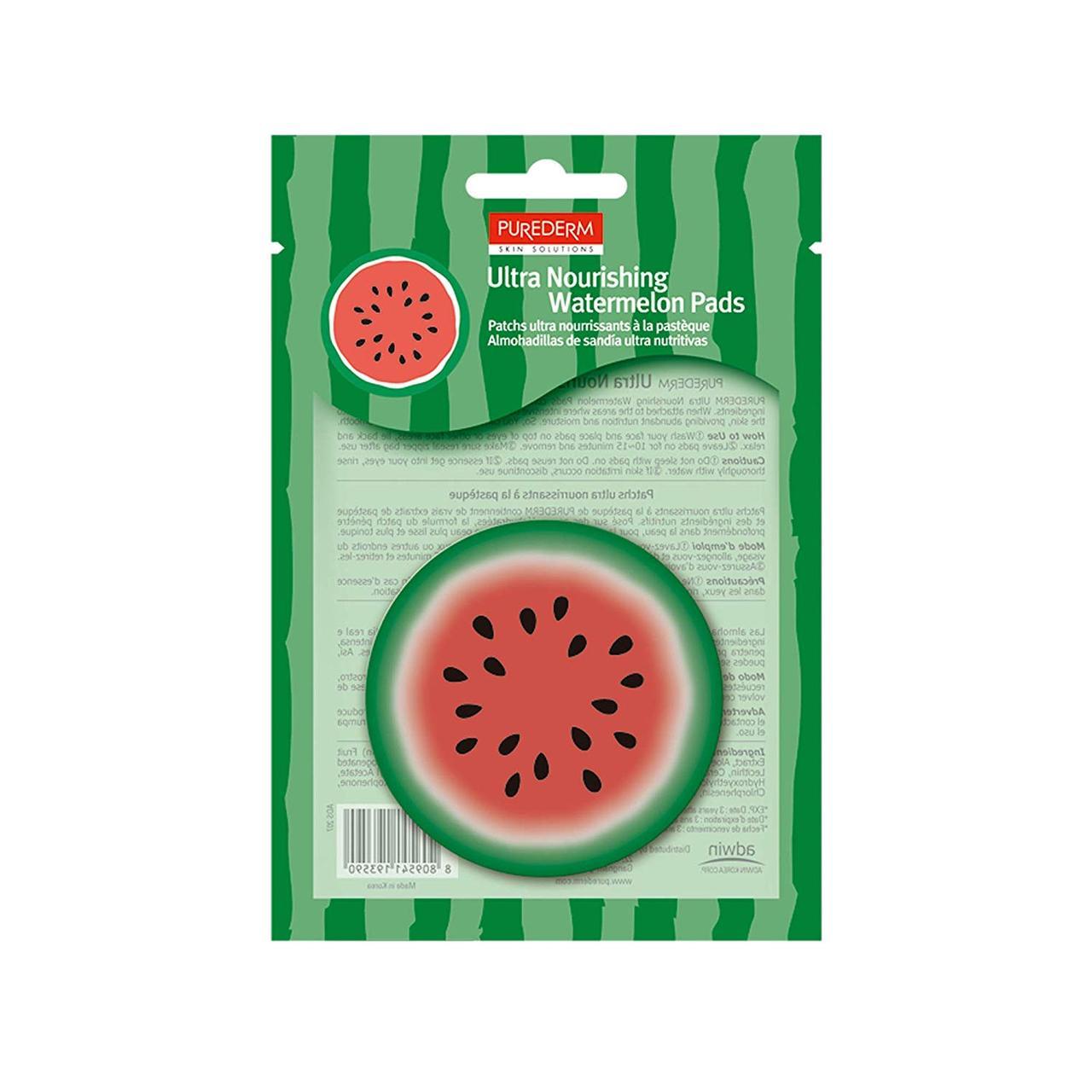 Патчи для интенсивного питания кожи с экстрактом арбуза PUREDERM Ultra Nourishing Watermelon Pads 10 шт