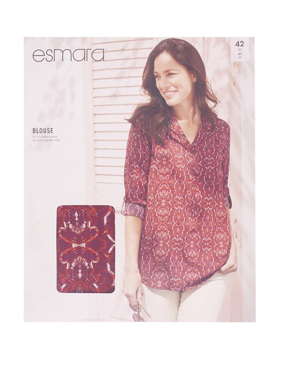 """Блуза ESMARA """"Bluse"""" Германия красный узор XL (48 размер)"""