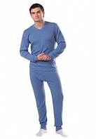 Тёплое нательное мужское бельё, Узбекистан,100 % хлопок голубое