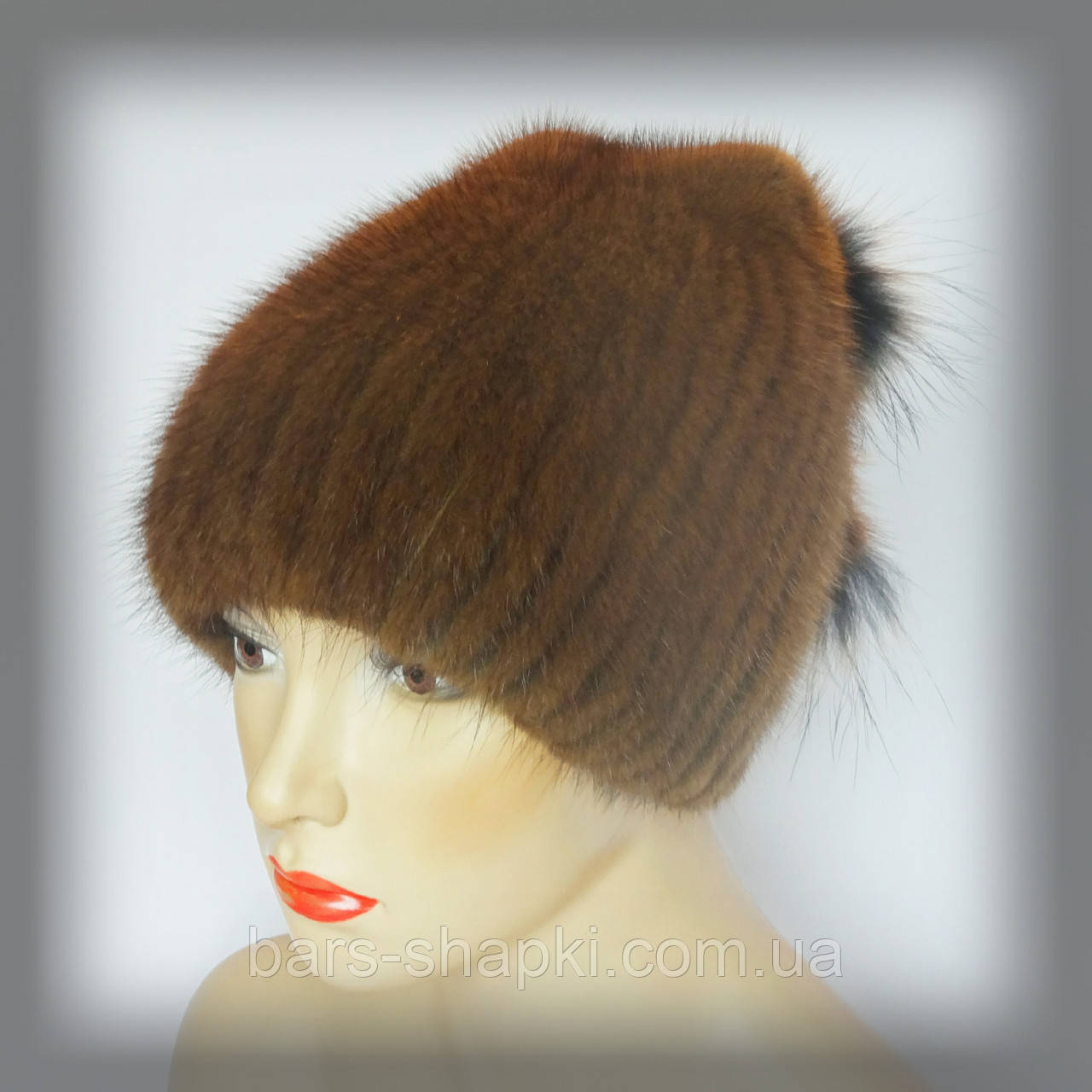 Меховая шапка из ондатры (песочная)