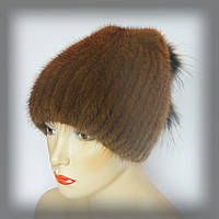 Меховая шапка из ондатры (песочная), фото 1