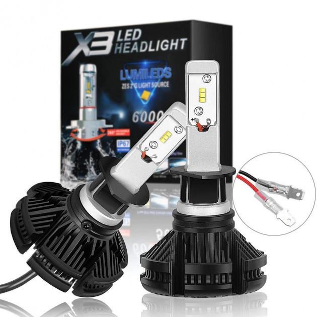 Светодиодные LED лампы для фар автомобиля HeadLight X3 H11