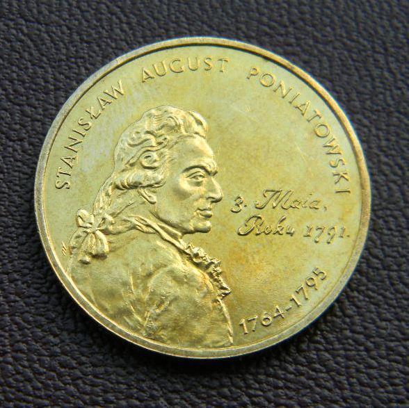 2 злотых Польша 2005 г. Станислав Август Понятовский