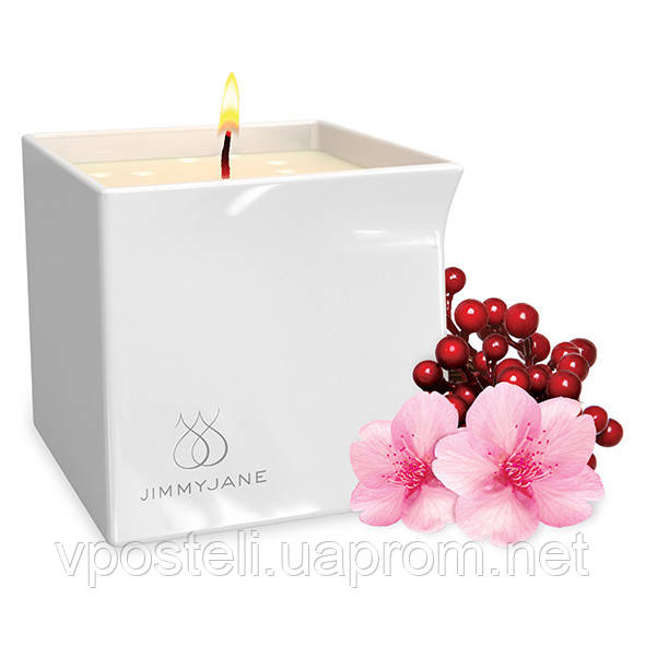 Масажна свічка Jimmyjane з ароматом Цвітіння ягід