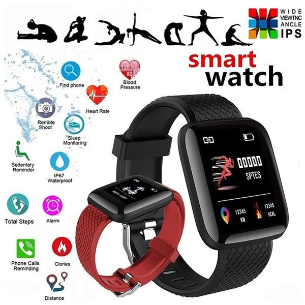 Умные Смарт часы фитнес браслет Smart Watch 116 годинник тонометр
