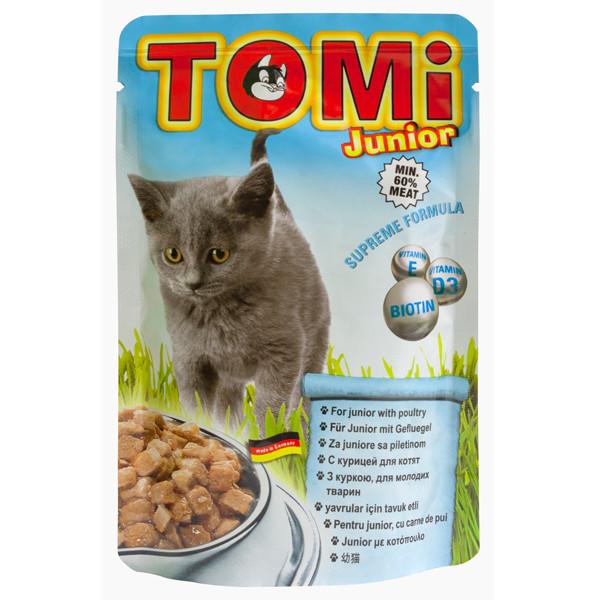 Консервы для котят TOMi junior с курицей в соусе 100 г