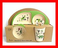 Набор детской бамбуковой посуды, фото 1