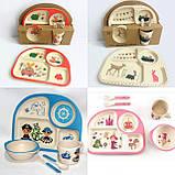 Набір дитячого посуду бамбуковій, фото 2