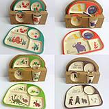 Набір дитячого посуду бамбуковій, фото 3