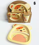 Набор детской бамбуковой посуды, фото 5