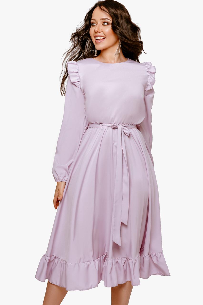 Платье женское с рюшиками Лиловый