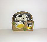 Набір дитячої бамбуковій посуду,, фото 2