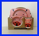 Набір дитячої бамбуковій посуду,, фото 5