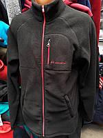 Спортивные флисовые кофты мужские Коламбия (Colambia)Черная