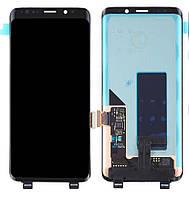 Дисплей для Samsung Galaxy S9 Plus G965, модуль в сборе (экран и сенсор), черный Midnight Black, оригинал