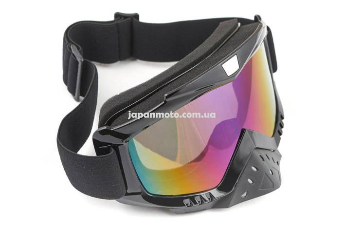 Очки кроссовые KML (mod:WL-EC008, черные, стекло хамелеон), фото 2