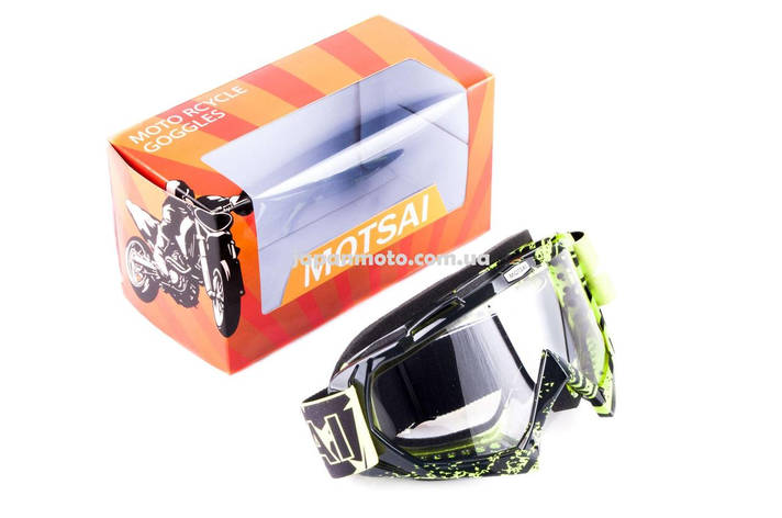 Очки кроссовые MOTSAI (mod:A4, с прозрачным стеклом), фото 2