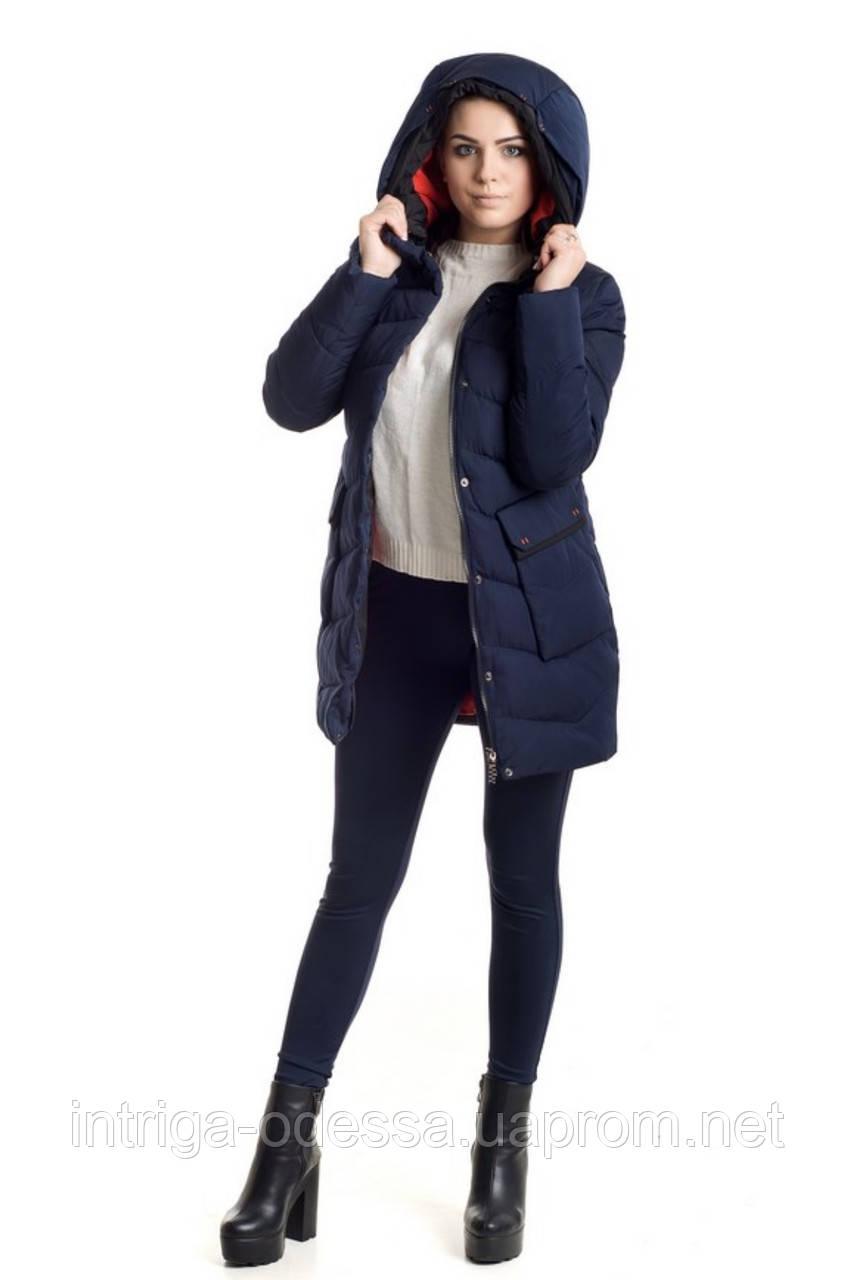 Куртка зимняя женская 018 (синий)