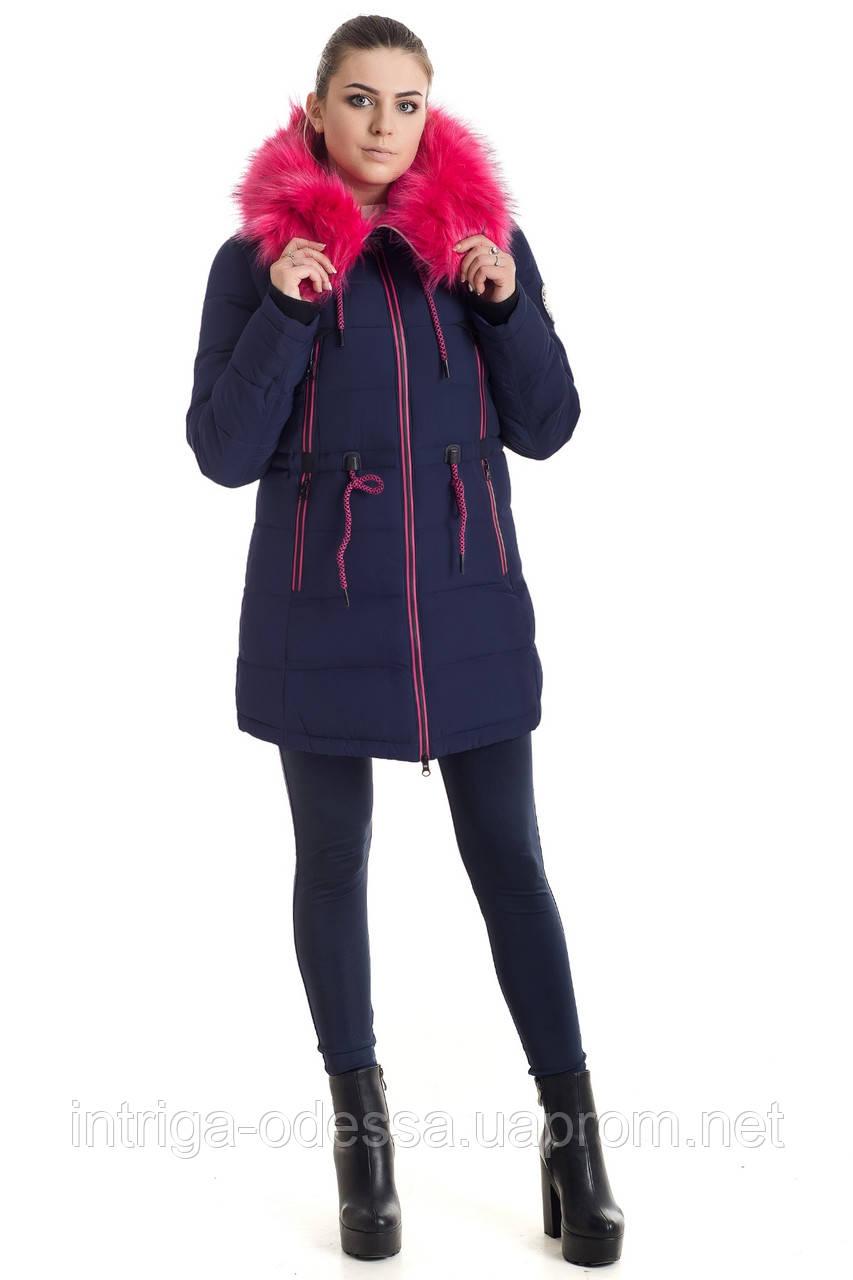 Куртка зимняя женская 17-13 (синий+розовый)