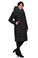 Пуховик женский 8535-1 (чёрный), фото 1