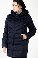 Куртка зимняя женская 756-8 (тёмно-синий), фото 1