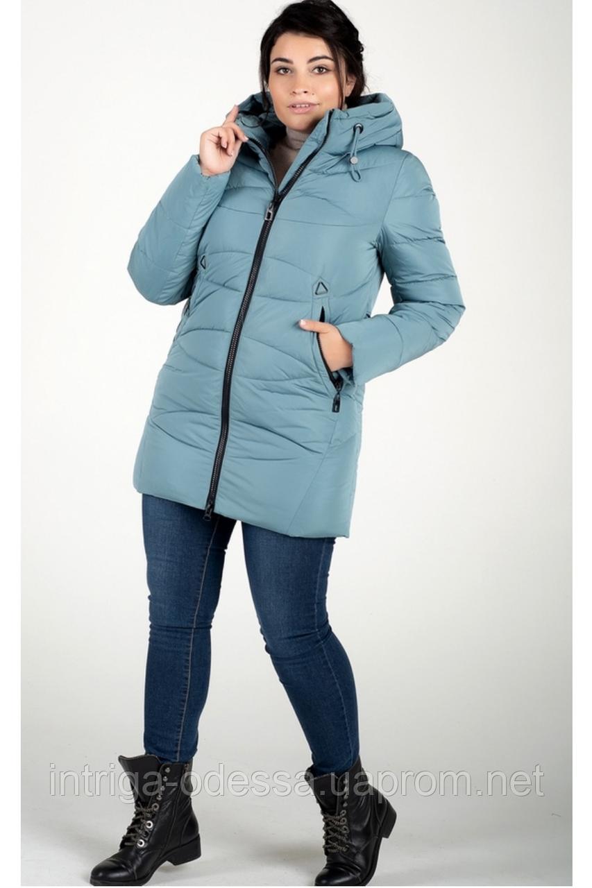Куртка зимняя женская 819-22 (серо-голубой)