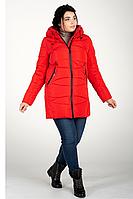 Куртка зимняя женская 819-3 (красный), фото 1