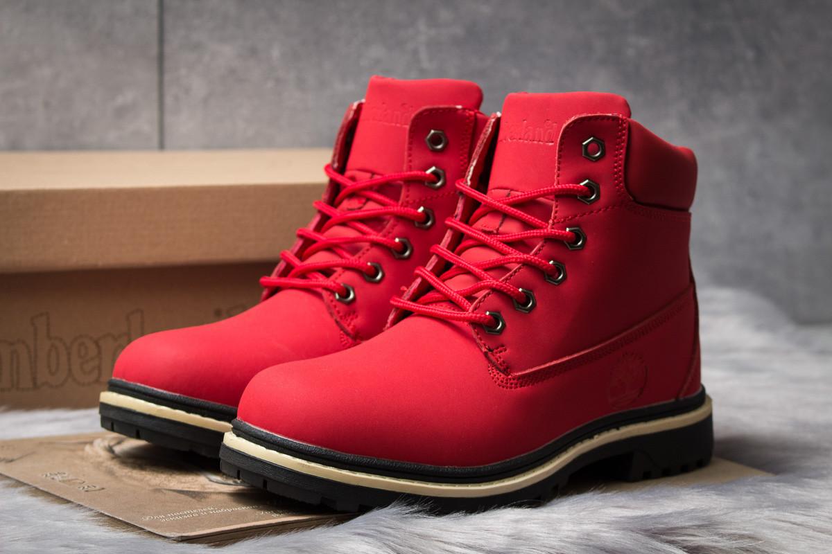 Зимние ботинки  на мехуTimberland Premium Boot, красные (30735) размеры в наличии ► [  39 40  ]