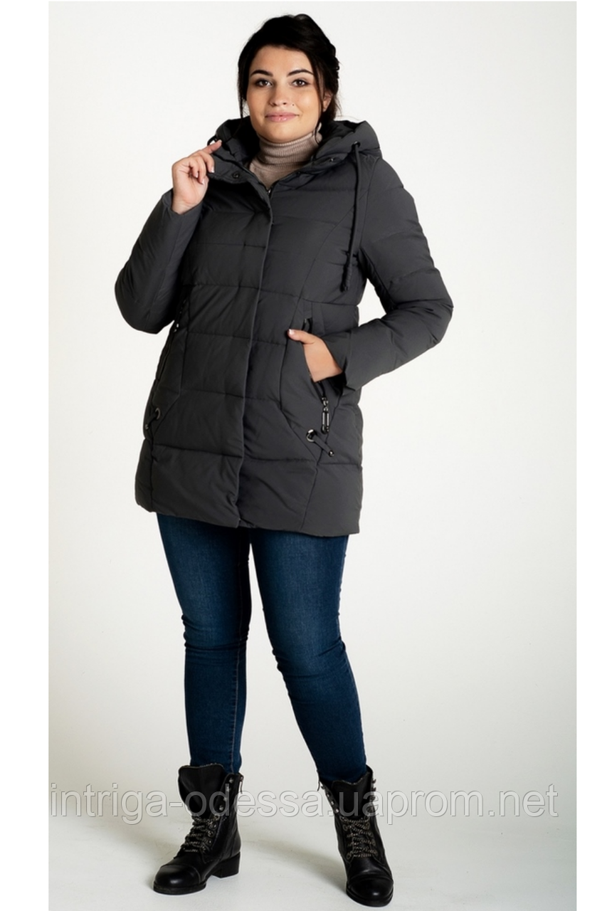 Куртка зимняя женская 716-15 (серый)
