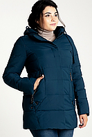 Куртка зимняя женская 716-18 (изумруд), фото 1