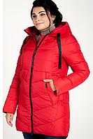 Куртка зимняя женская 207-3 (красный), фото 1