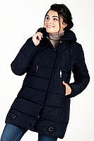Куртка зимняя женская 739-8 (тёмно-синий), фото 1