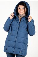 Куртка зимняя женская 739-28 (голубой), фото 1