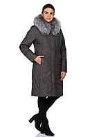 Куртка зимняя женская 567-9877 (серый), фото 1